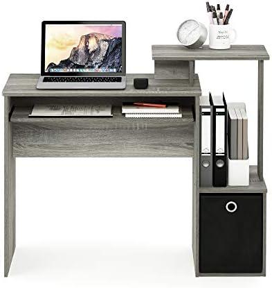 FURINNO Econ Multipurpose Home Office Computer Writing Desk, French Oak Grey