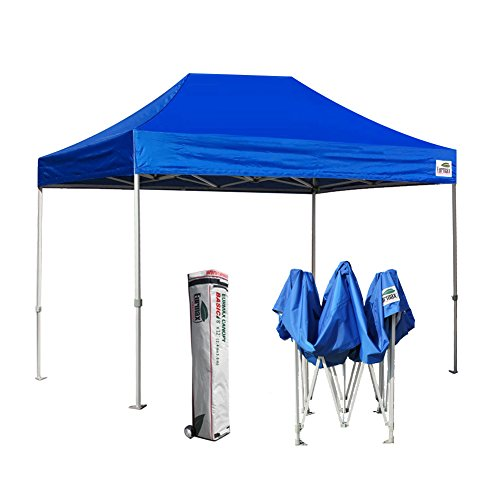 Eurmax 8 x 12 Pop up Canopy Party Tent Commercial Level w/Deluxe Storage Roller bag (Blue)