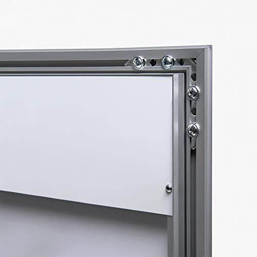 Vitrina expositora porta men/ú exterior con cerradura vertical 4xA4