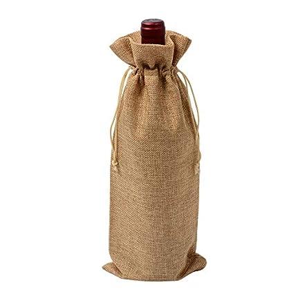 Cratone - Bolsas de Yute Natural rústico con cordón para ...