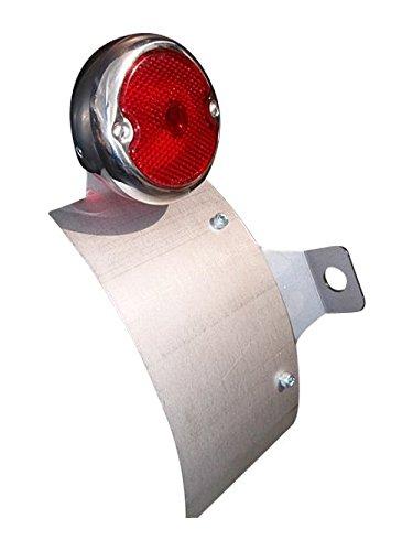 部品屋K&W TW225 サイドナンバーKIT (ラウンドテール付) レンズ黒ストレート P32104   B01G1LQST8