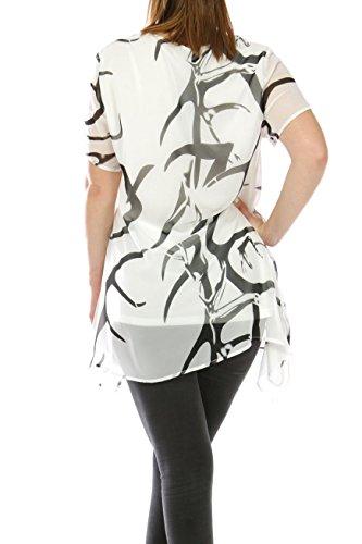 Rouge Blanco Camisas Miss Mujer Para dInAYZdqw