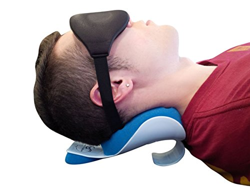 NeckZen Cervical Neck and Shoulder Relaxer and Revitalizer by Best Stiff Neck and Shoulder Pain Relief Support Pillow and Relaxation Device - BONUS Eye Mask and Ear Plugs by NeckZen (Image #2)