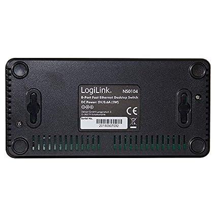 Negro Switch LogiLink NS0103 Conmutador de Red no administrado L2 Fast Ethernet Bidireccional Completo No administrado, L2, Fast Ethernet 10//100 Switch de Red Full Duplex 10//100
