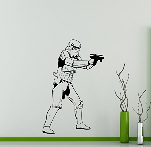 Galactic Empire Star Wars Wall Decal Storm Trooper Vinyl Sticker Soldier Home Interior Removable Decor Custom Decals 15(str)