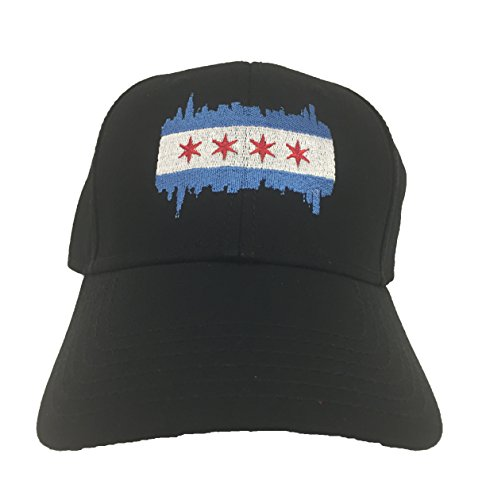 177dae9c19c Chicago Hats - Chicago Flag on Black Otto Cap (Blue Silver Red Black) - Buy  Online in Oman.
