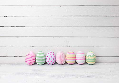 Kate 7x5ft Easter Photography Backdrops Eggs White Background White Wood Floor Photo Studio for Newborn Backdrop for $<!--$46.00-->