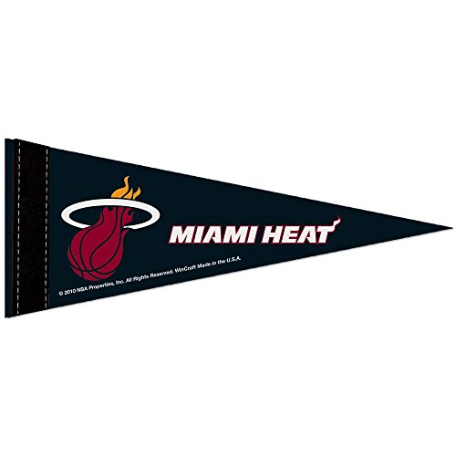 WinCraft Miami Heat Official NBA 10 inch x 4 inch Mini Pennant by 329790 by WinCraft