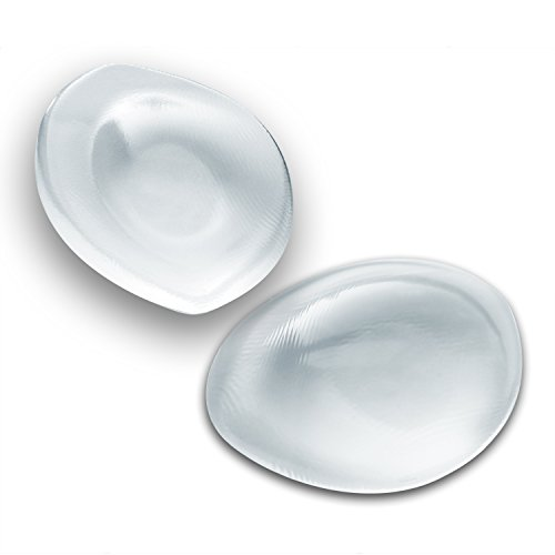 Silicone Gel Bra Inserts - Clear Breast Enhancement padding Medium for A-cups