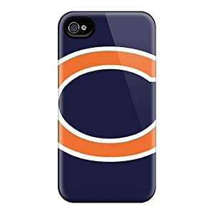 JasonPelletier Iphone 4/4s Shock-Absorbing Hard Cell-phone Cases Custom Lifelike Chicago Bears Pictures [DOE10175rRYO]