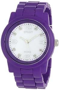 Sprout Women's ST5005MPPR  Diamond Dial Purple Corn Resin Bracelet Watch