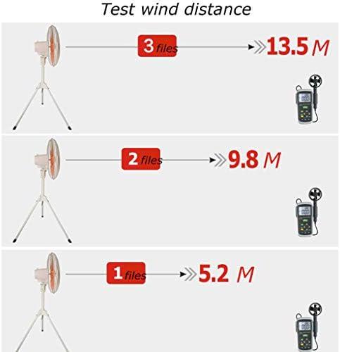 Jyfsa Draagbare, stille standvoet, krachtige statiefventilator, 3 snelheden lmw10P08