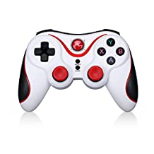 Bluetooth Wireless Game Controller For IOS ( iPhone/ iPad/ iPod touch/ Apple TV) and Android (Phone / Tablet / TV Box / Samsung Gear VR)-White