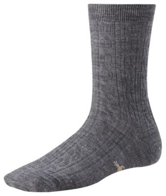 Smartwool Women's Cable Sock, MdGray Heather size L(shoe size 10-12.5) (Smartwool Socks Womens Cable)