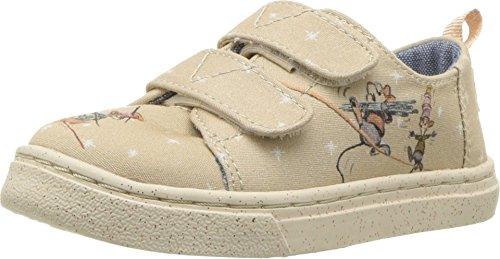 TOMS Kids Baby Girl's Lenny Disney¿ Princesses (Infant/Toddler/Little Kid) Taupe Gus & Jaq Printed Canvas 9 M US Toddler