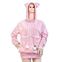 D-Sun Japanese Style Kangaroo Pouch Large Pocket Hoodie Pet Holder Sweatshirt
