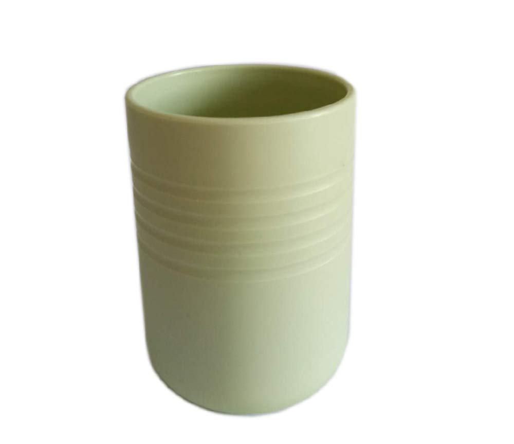 JC1927 Bathroom Tumbler Vanity Countertops Upgraded Plastic rinsing Cup 300ml Green Small by JC1927