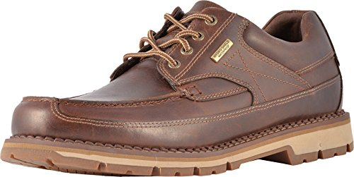 (Rockport Mens Centry Moc Toe Brown Oxford - 10 W)