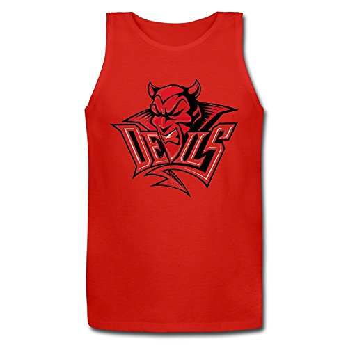 Devils Hockey Men's Graphic Tanks,Red