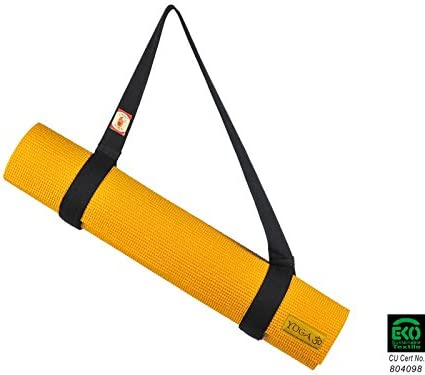Chin Mudra Sangle de Transport 2 en 1 pour Tapis de Yoga 100% Coton Bio