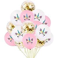 15 Pcs/Set Unicorn Balloons Cute Colorful Latex Balloons Baloon Unicorn Party Decoration Balloons Birthday Party Decor Kids Favors