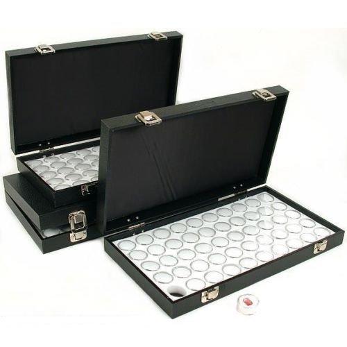 GHP 150 Gem Jars 14 3/4'' x 8 1/4'' x 1'' White Display Tray Travel Case