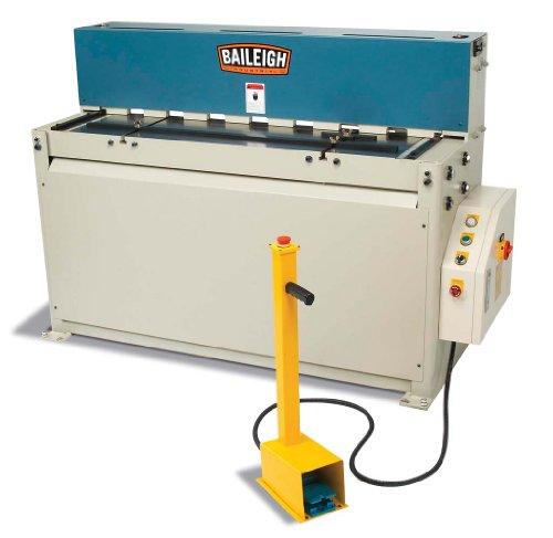 "Baileigh SH-5210 Hydraulic Sheet Metal Power Shear, 1-Phase 220V, 5hp Motor, 10-Gauge Mild Steel Capacity, 52"" Length"