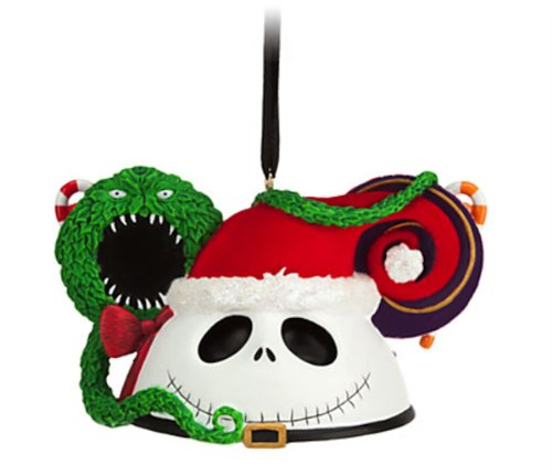 Disney Parks Santa Jack Skellington Mickey Mouse Ears Hat Ornament NEW RELEASE -