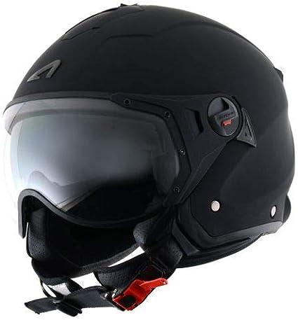 MINIJET S SPORT monocolor Casque de moto look sport Gloss coffee Casque jet compact Astone Helmets Casque de scooter mixte Casque en polycarbonate