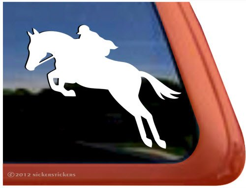 jumping horse trailer decal - 1