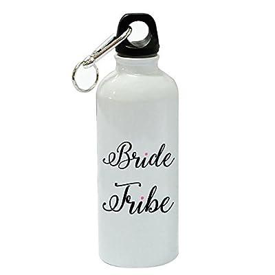 76DinahJordan mariée Tribe Sports Bouteille d'eau Funny Blanc en aluminium Bouteille d'eau Bouteille de gym fantaisie pour femme, pour hommes, pour enfants, pour Mom
