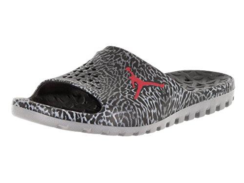 Nike Men's Jordan Super Fly Team Slide, BLACK/GYM RED-COO...