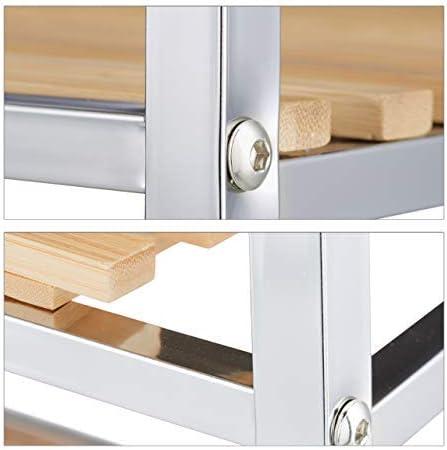 Relaxdays 10020785/_58 Scaffale da Bagno in bamb/ù HxLxP: 70 x 39 x 33 cm Marrone Chiaro 3 Ripiani Mobile a Colonna