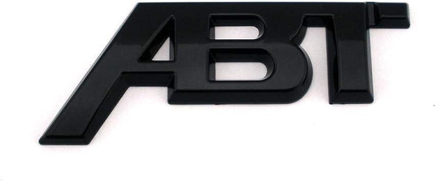 ZYHZJC Per Audi Chrome Adesivo ABT 3D nero lucido Adesivo per stemma per auto sul lato posteriore