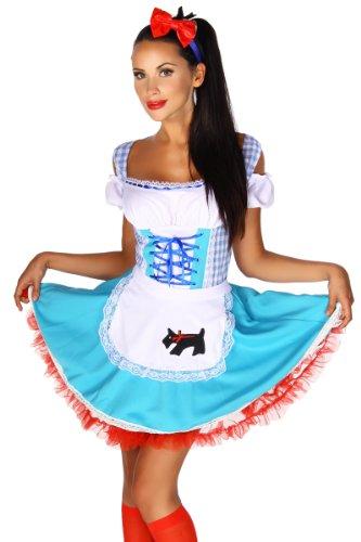 Heels-Perfect - Zuecos de Algodón para mujer azul/blanco