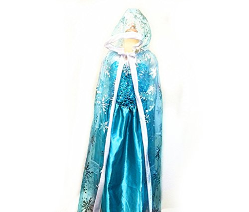 (Mozlly Girls Snow Queen Hood Cape-Costume Accessory, Halloween, Ballerina, Dress Up - Item)