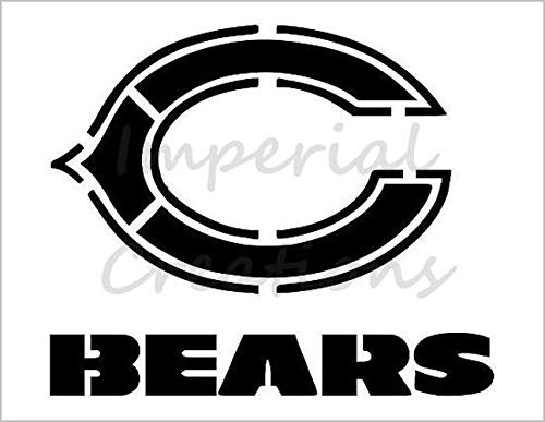 CHICAGO BEARS Football Team 8.5 x 11 Stencil 20 MIL Sheet S109