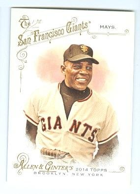 Willie Mays baseball card (San Francisco Giants) 2014 Topps Allen Ginters #93