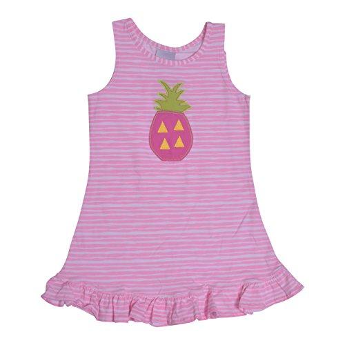 Flap Happy Girls' Little Sophie Swing Dress, Petal Stripe 5 ()