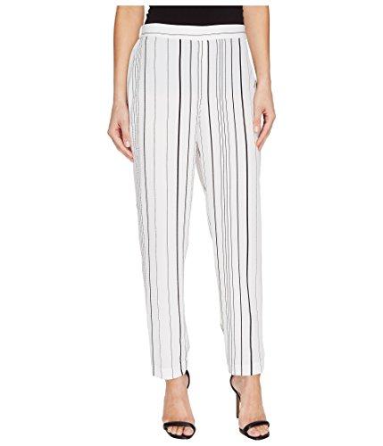 Vince Camuto Women's Pencil Stripe Slim Leg Pull-On Pants New Ivory MD 28