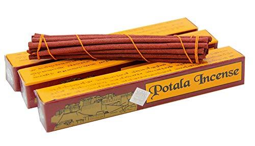 (Gallery of Himalayan Art Potala Incense 3 Box 60 Sticks Tibetan Traditional)