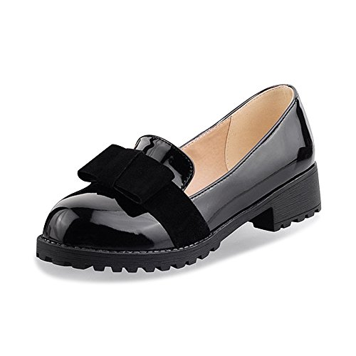 OCHENTA Arco de Moda mujer zapatos planos ocasionales Negro