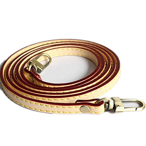 47 inch PU Leather Strap for Bag Strap/Replacement Shoulder Bag Straps/Straps for Bags for DIY (Beige with red Edge)
