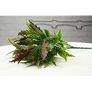 MARJON FlowersSimulation Plant Artificial Green Green Indoor Decorative Leaf Plastic Emulation Gladiolus Leaf, Chocolate 13