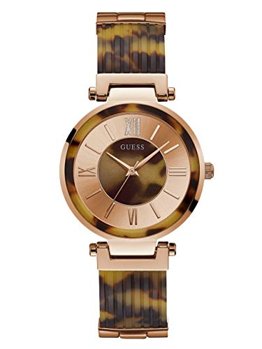 - GUESS  Rose Gold-Tone Stainless Steel Tortoise Bangle Watch with Self-Adjustable Links. Color: Rose Gold-Tone (Model: U0638L8)