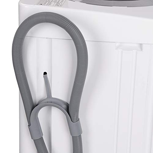ZENSTYLE Portable Compact Design Multifunctional Laundry Washer/Spinner Fully Automatic 8 LB Top Load Mini Washing Machine w/Drain Pump, 5.74 FT Power Cord, 6.57 FT Inlet Hose