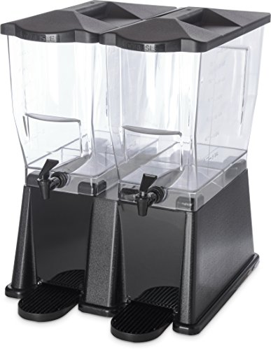 Carlisle 1085303 TrimLine Clear Economy Twin Base Beverage Dispenser, 6 gal. Capacity, Black by Carlisle