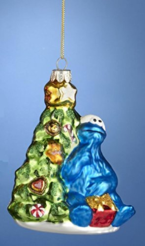 Sesame Street Cookie Monster with Christmas Tree
