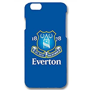 Hot Blue Background Printed Everton Football Club Phone Case Skin Protective Cover For Iphone 6 / 6s ( 4.7 Inch )
