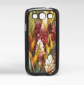 Colorful Tropical Flowers Hard Snap on Phone Case (Galaxy s3 III)